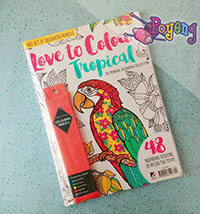 Coloring for Adult: Love to Colour Tropical (+BONUS)