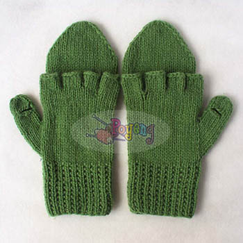 15.01.G-Glove : fingerless with cover Green
