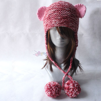 14.02.C-Bear Earflap Hat