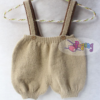 15.03.B-baby pants : brown with suspender
