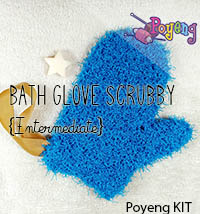 KIT Reguler: Bath Glove Scrubby Knitting Kit