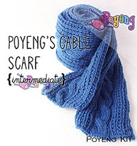 KIT Reguler: Cable Scarf Knitting Kit