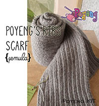 KIT Pemula: Simple Ribbing Scarf SP Knitting Kit