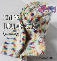 KIT Pemula: Tubular Scarf SA Knitting Kit