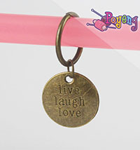 St marker Ring bronze tone:<br>Live-Laugh-Love