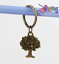 St marker ring bronze tone: Tree