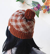 16.04.H-Hat: Checker brown