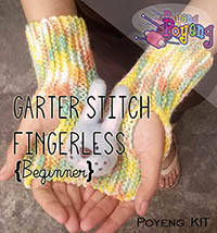 KIT Super Pemula: Garter Stitch Fingerless Knitting Kit