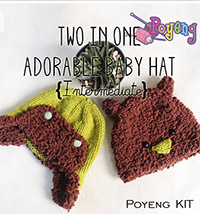KIT Reguler: Two Adorable Baby Hat Knitting Kit