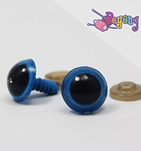 Doll's Eye - blue edge big (14mm)