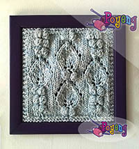 15.04.O-Framed Knitting: Bobbles 15.5x15.5cm