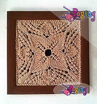 15.05.O-Framed Knitting: Lace 17x17cm