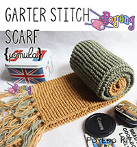 KIT Super Pemula: Garter Stitch scarf Knitting Kit