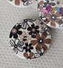 Kancing 2lb-1.8cm :<br>brown 6 petal-flower