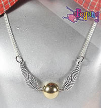 Harry Potter memorabilia: Kalung Snitch pendek (45.7cm)