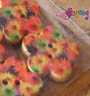 Kancing shape : Flower -<br>colorful daisy 17mm