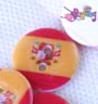 Kancing resin :<br>spanish flag 1.8cm