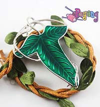 Lord of the Rings memorabilia: Shawl pin/Bros Elven Leaf