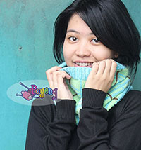 15.07.S-First Tartan Cowl in soft blue