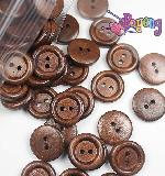 Kancing 2lb-18mm dark brown