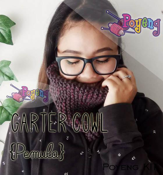 KIT Super Pemula: Garter Cowl Knitting KIT
