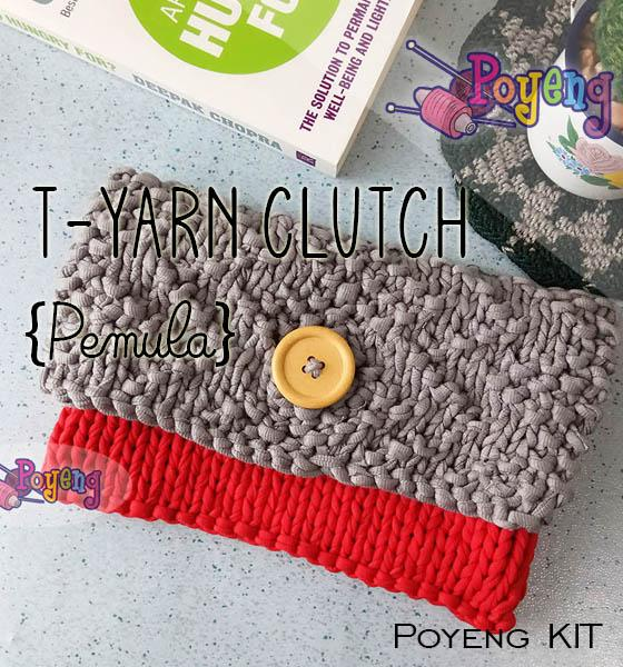 KIT Pemula: T-Yarn Clutch Knitting KIT