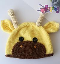17.02.B: Giraffe Baby Hat and pants