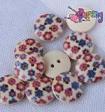 Kancing 2lb-1.8cm : <br>red&blue little flowers
