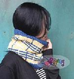15.08.S-First Tartan Cowl in Navy