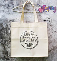 Reusable Shopping Bag Poyeng : Life is Sweeter