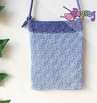 Poyeng's statement bag: Blue