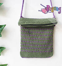 Poyeng's Statement Bag: Strip Moss