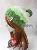 15.03.H-Hat : Cloudy green slouch (adult)