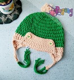 GreenCream crochet hat