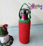 Festive Crochet bottle cover