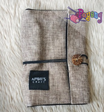 Apoi's Interchangeble Needles Case In Beige