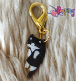St marker lobster gold tone:  (no restock) cat black and white