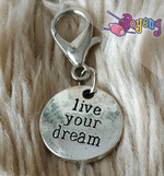 St marker Lobster silver tone: Live Your Dream
