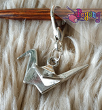 St marker Lobster silver tone: Origami Silver (Last Stock)