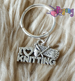St marker ring silver tone: I Love Knitting