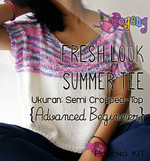 KIT Reguler: Fresh Look Summer Tee (Semi Cropped-top)