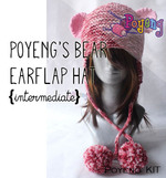 KIT Reguler: Bear Earflap Hat Knitting Kit