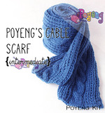 KIT Reguler: Cable Scarf Knitting Kit (SA)