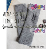 KIT Pemula: Wina's Simple Fingerless SA Polos Knitting Kit
