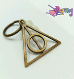 St marker ring bronze tone: Deathly Hallows