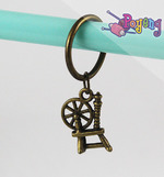 St marker ring bronze tone: Spinning wheel