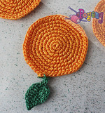 17.01.O: Orange Coaster set of 5