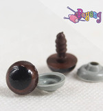 Doll's Eye - brown edge medium (10mm)