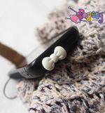 Earphone Plug (3.5mm/standard) : white bow