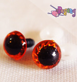 Doll's Eye - red edge big (14mm)